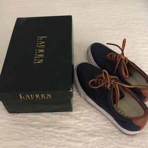 Ralph Lauren Veeta Navy Canvas sneakers.